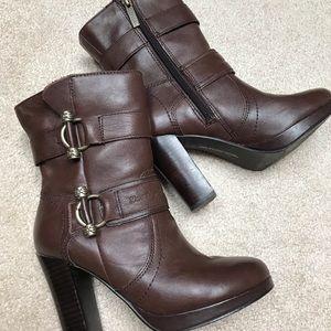 "Harley Davidson 4"" genuine leather, stacked heel"